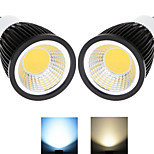 2 pcs Ding Yao GU10 10W 1X COB 50-100LM 2800-3500/6000-6500K Warm White/Cool White Spot Lights AC 85-265V