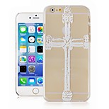 The Cross Pattern Transparent Phone Case Back Cover Case for iPhone6 Case