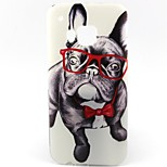 Spectacle Dog Pattern Soft TPU Case for HTC M9/HTC One M9