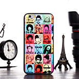 Fashion Head Pattern Frame Back Cover for iPhone 6