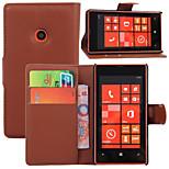 litchi alrededor paréntesis abierto cartera de tarjeta de teléfono de cuero adecuados para Nokia Lumia 520 (color clasificado)