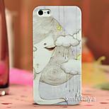 cáscara de la protección de color estilo de moda de dibujo para iPhone5 / 5s-P242