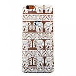 Elephant Pattern Painted TPU Soft Back Cover for iPhone 6