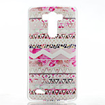 Pink Decoration Pattern Transparent Frosted PC Material  Phone Case for LG G3