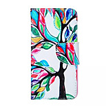 Tree Of Life  Pattern PU Leather Phone Case For iPhone 6