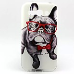 Glasses Dog Pattern TPU Material Soft Phone Case  for Alcatel C9