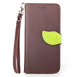 Fashion Leaf Design Style PU Wallet Leather Case Cover For iPhone5 5S Flip Leather Case