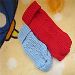 Maglioni - di Terylene - Rosso/Blu