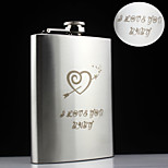 Personalized Gift 8oz An Arrow Through The Heart Design Stainless Steel Flask