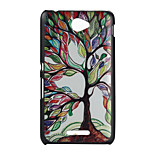 Colored Trees Pattern PC Material Phone Case for Sony E4