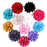 5Pcs DIY Handmade Glitter Cloth Flower for Headbands, Scrapbooking and More Decoration(Random Delivery)