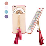 Fashion with Fan Hang Decorations Design PC Back Cover for iPhone 6(Assorted Color)