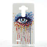 Eye Pattern Transparent Frosted PC Material  Phone Case for LG G4