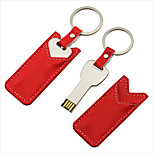 16gb metal mini unidad flash USB Key regalo con funda de piel