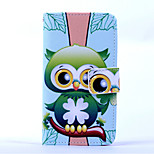 Magic Spider®Green Owl Pattern PU Full Body Case Stand with Screen Protector for Sony Z3 MINI