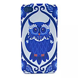 Owl Pattern Transparent Frosted PC Back Cover For  iPhone 4/4S