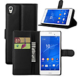 Litchi Around Open Bracket Leather Phone Wallet Card Suitable for Sony Z4(Assorted Color)