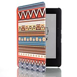 6 Inch Ethnic Totem Pattern PU Leather Case with Magnetic Buckle for Amazon Kindle Voyage