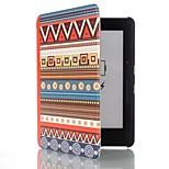 6 inch etnische totem patroon pu lederen tas met magnetische gesp voor Amazon Kindle voyage