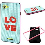 Love  Pattern TPU + PC Side Combo Phone Case For Sony Xperia E3