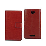 5 Inch Crazy Ma Pattern Luxury PU Wallet Leather Case for Sony Xperia E4(Assorted Colors)