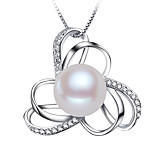 Z&X® 925 Silver Plated Flower Shaped Fresh Water Pearl Pendants Without Chain Party/Daily