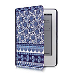 Blue & White Porcelain Pattern PU Leather Case with Magnetic Buckle for Amazon Kindle (2014)