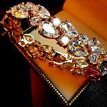 Europe Style Women's Fashion Crystal Rhinestone Hand Chain Ring Bracelet