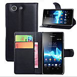 Litchi Around Open Bracket Leather Phone Wallet Card Suitable for Sony Xperia Z4 mini(Assorted Color)