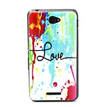 Colorful Ink Love Pattern TPU Material Phone Case And Screen Protector for Sony Xperia E4