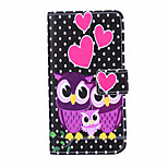 Magic Spider®Black and White Spot Owl Pattern PU Full Body Case Stand with Screen Protector for Sony E3