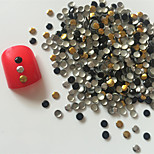 200PCS 3mm mixed Colour Roundness Alloy Nail Art Golden&Silver Decorations