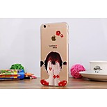 Painting Diamond Look/Graphic/Special Design TPU Back Cover for iPhone 6 Plus