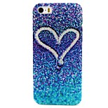 Blue Beach Love Pattern PC Hard Back Cover Case for iPhone 4/4S