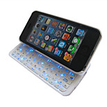 Wireless Bluetooth Backlit Keyboard with Micro Usb Charger Ultra-thin Case Full QWERTY Keyboard for iPhone5/5s