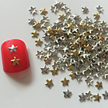 200PCS Mixed Colour  Five-pointed Star Rivet Nail Art Decorations