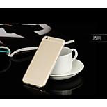 Asling ultra TPU mince couverture de cas pour l'iphone transparent 6plus