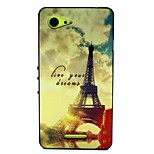 Evening Pattern TPU + PC Side Combo Phone Case For Sony Xperia E3