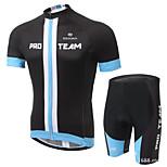 Men's Short Sleeve Summer Cycling Suits Shorts Bib Shorts Breathable Moisture Permeability Back Pocket Reflective Strips