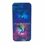 Bright Star  Pattern Transparent Frosted PC Back Cover For  iPhone 5/5S