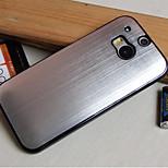 caja del teléfono de chapado de metal pulido para htc m8 (colores surtidos)