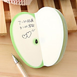 Green Apple Shaped Non-Stick Notes Set