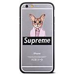 vêtements de mode chat pattern frame couvre pour l'iphone 6 plus