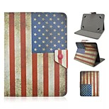 USA National Flag Pattern Magnetic Flip Stand Universal PU Leather Case with Elastic Belt for 7 Inch Tablet PC