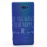 Happy Sea Pattern PC Hard Material Phone Case for Sony Xperia M2 S50h D2303 D2305