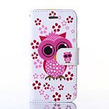 Owl Pattern PU Leather Full Body Case with Stand for iPhone6
