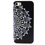 schwarzen Boden blätter muster pc schwer rückseitigen Abdeckung für iPhone 4 / 4S
