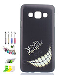 Tooth Pattern Black Matte PC Phone Case And Dust Plug Stylus Pen Stand Combination for Samsung Galaxy A3