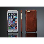 Original Cow Leather Back Case with Card Holder for Apple Iphone 6 (Assorted Color)