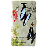 Butterfly Flower Pattern PU Leather Full Body Wallet Protective Case with Stand and Card Slot for Huawei Honor 6
